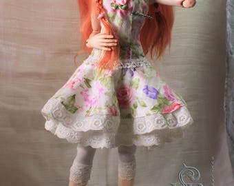Alice. Bjd doll. Ooak. The ball-jointed doll. Porcelain Parian .Overglaze painting.