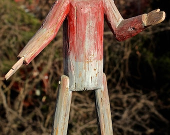 Midwest Scarecrow Folk Art Carving