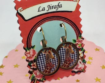 """La Jirafa"" earrings"