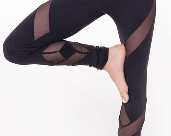 Diamond cut leggings