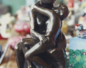 The Kiss, Auguste Rodin sculpture, Art figure. Miniature, Anniversary gift, Wedding gift