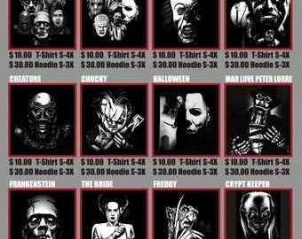 classic horrors Hoodies