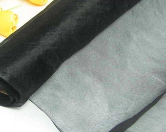 140cm Wide Black 100% Real Mulberry Silk Organza Fabric Natural Silk Material (Za W Black W X Yards)Online for Sale