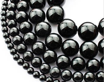 6mm Onyx Tourmaline Natural Stone Beads Stone Round Loose Beads Gemstone Bead Supply