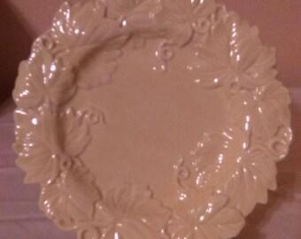 Fitz and Floyd Classics Cream Color Vine Canape Plate