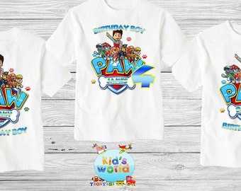Paw Patrol Family birthday shirt, Custom shirt ,personalized paw patrol Shirt , family shirt,birthday shirt,kids custom birthday shirt d3
