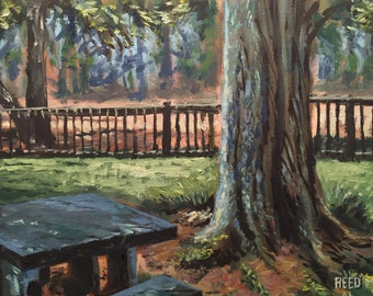 Plein Air Oil Painting at Florida Park