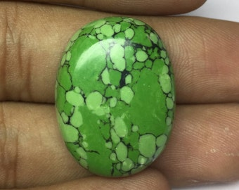 Natural turquoise Oval shape size 28x21x9mm Wt-7.72 Gm