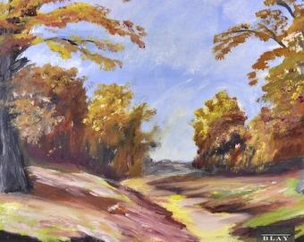 Original Oil Painting 20th Century Modern Landscape Impressionist Framed Vintage Canadian Art
