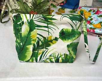 Tropical Banana leaf print handbag