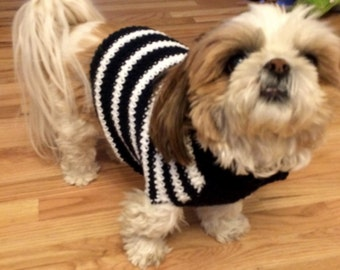 Hand crocheted Dog Jacket in 100% Cotton