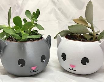Adorable Cat Planter | Kitty Cat Planter | Cat Planter | Meow