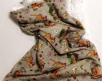 Shaggy Faux Fur Baby Blanket - Bambi