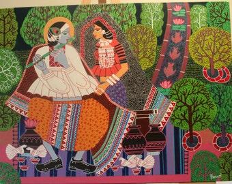 Original Lord Krishna Playing Flute