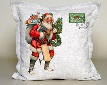 Vintage Santa Pillow Cover