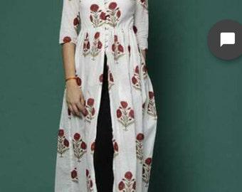 Bollywood Kurtiindian traditional cotton kurti ethenticdress for fashion diva