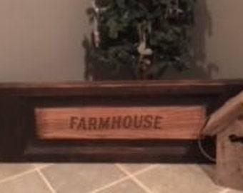 Farmhouse reclaimed wood and vinyl sign