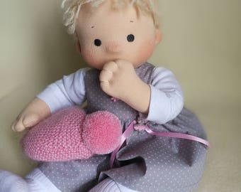 Doll For Baby Girl Soft Doll Textile Doll 14 Inch Doll  Waldorf Doll Waldorf Doll Baby  Dolls  Rag Doll Dolls And Figures Toys And Games
