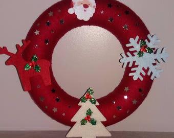 Christmas Wreath  Hand Crafted Festive Decor