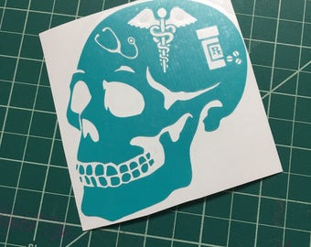 Nurse skull decal