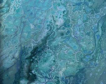 Fluid Acrylic Abstract - Under the Sea
