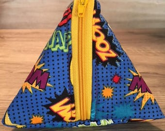 Triangle Coin Pouch, Zippered Pouch, Game Bag