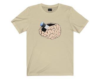 Mindful Observatory Telescoping Brain T-Shirt
