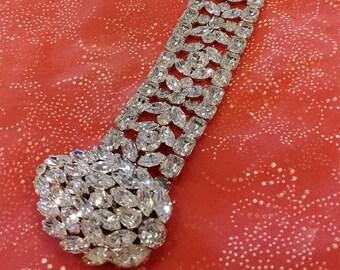 Vintage Eisenberg Bracelet - Large Crystals