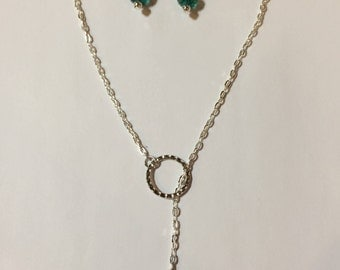 Silver/Turquoise Necklace Set