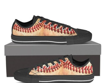 Low-top Baseball  Stitches Sneakers for Men and Women Fans of Cubs, Red Sox, Cardinals, Dodgers, Yankees, Blue Jays, Angels, Giants ALL Fans