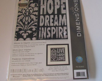 Dimensions Words to Inspire in Counted Cross Stitch Kit