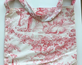 French toile de Jouy bag