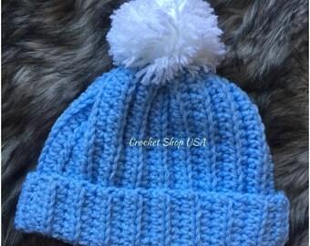 Baby Crochet Hat - Crochet Hat - New born - Blue Hat