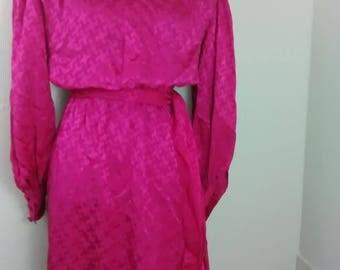 Vintage Adele Simpson Silk Dress
