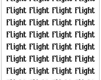 """Travel Life Script Sticker - """"Flight"""""""