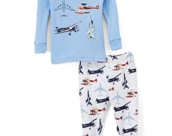 Airplanes Boys Pj's, 100% cotton, Tightly Fitted, Great Prices, Satisfaction Guaranteed