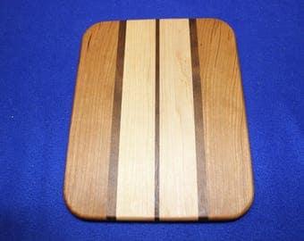 Cherry, Maple, and Walnut cutting boards