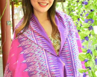 Thai silk handwoven shawl