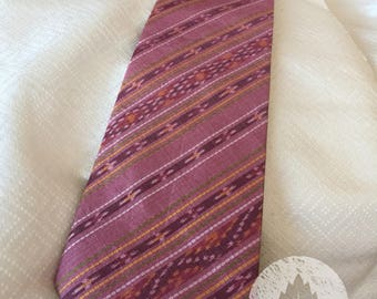 Thai Silk Necktie/Saket Pattern/Handcrafted/Handwoven