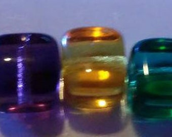 40 square glass beads assortment color