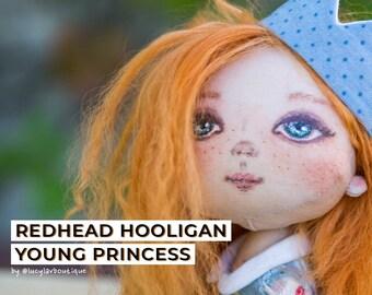Cloth doll Fabric doll Rag doll Textile doll Interior doll Art doll Handmade doll St Patricks day gift gift idea for sister Redhead doll