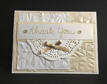 Handmade Thank You Note Card