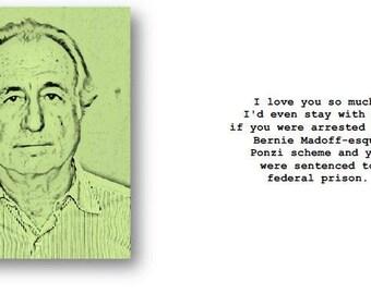 Benie Madoff I love you card