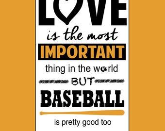 Love and Baseball 16x20 Matte Print