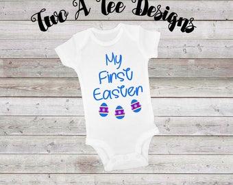 My First Easter, baby onesie, first easter onesie, twoateedesigns, onesie for babies, easter onesie, easter shirt, custom easter onesie