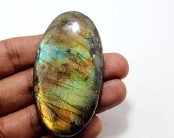 170.30cts Natural Multi flash Labradorite oval  62X35X8 mm Labradorite loose gemstone amazing & beautifull Labradorite nice flash AA-44