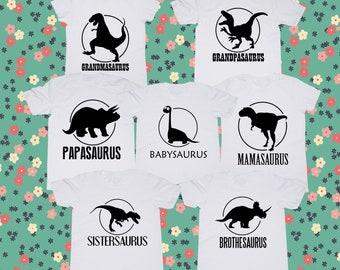 Dinosaur shirt/ Dinosaurs family tshirt/ Personalized shirts/ Family tshirts/ Birthday party tee/ grandma shirt/ Dinosaur t shirt/ Custom