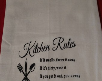Country Kitchen Flower Sack Towels / Kitchen Towels