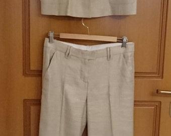 Iceberg 2 Piece Pant Suit Size 44 100% Authentic.