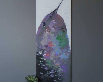 "Hummingbird 40""x16"" Original Acrylic Painting"